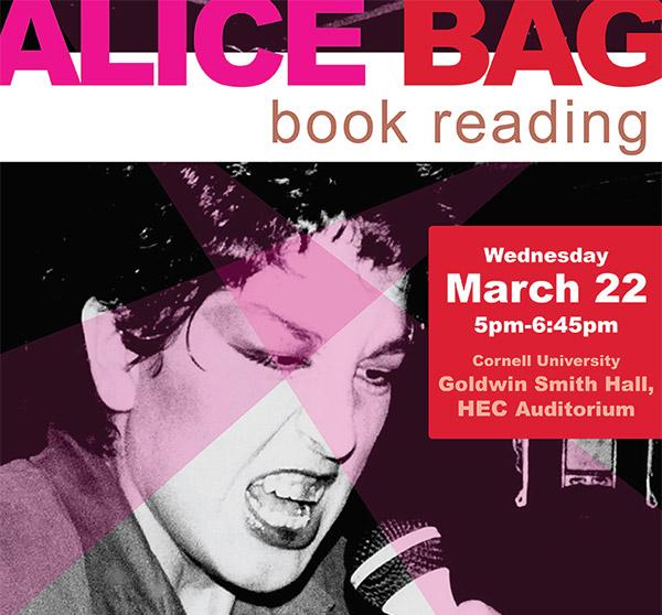 Alice Bag book reading poster
