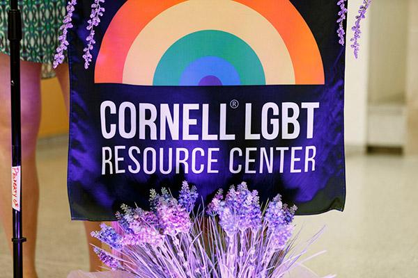 Cornell LGBT Resource Center rainbow logo